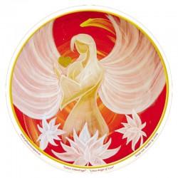 Mandala okenná nalepovacia 10,5cm - Anjel Lásky