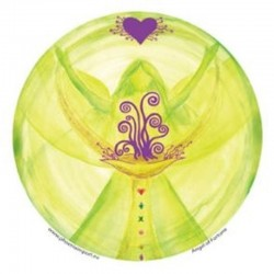 Mandala okenná nalepovacia 10,5cm - Anjel Šťastia