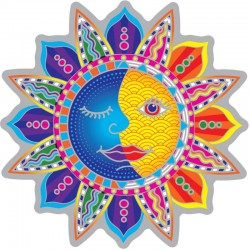 Mandala okenná nalepovacia - Slnko mesiac