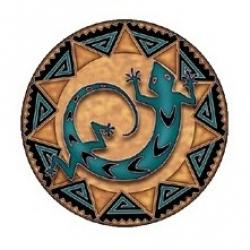 Mandala okenná nalepovacia 10,5cm - Duch serpentíny