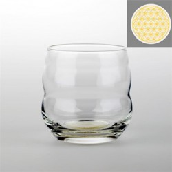 Pohár na nápoje s kvetom života 250ml - zlato