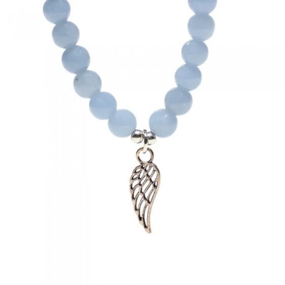 Náramok - Angelit - gumička s krídlom
