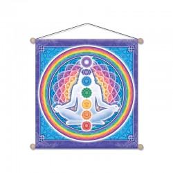 Nástenný dekor/baner - Čakrová meditácia 37,5cm