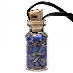 Prívesok - Fľaštička - Lapis lazuli