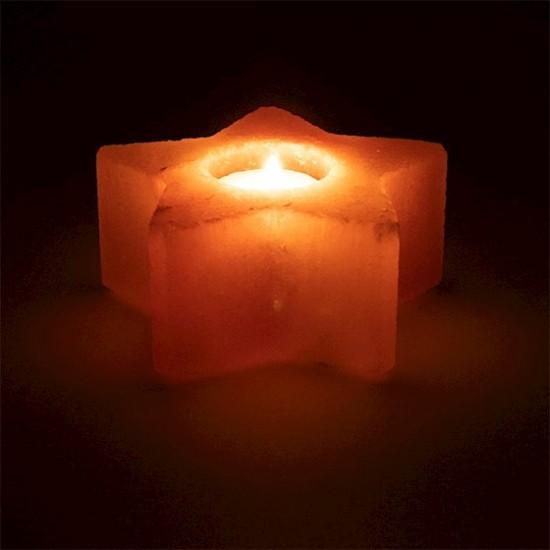 Svietnik z Himalájskej soli - Soľná Lampa 12cm - hviezda