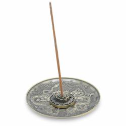 Stojan na tyčinky - kov tanierový bronzový s drakom