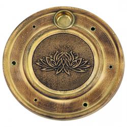 Stojan na tyčinky - drevený tanierový lotus