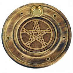 Stojan na tyčinky - drevený tanierový pentagram