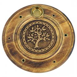 Stojan na tyčinky - drevený tanierový strom života
