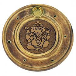 Stojan na tyčinky - drevený tanierový ganesh
