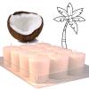 Sviečka eko - kokosový vosk - biela 4,5cm