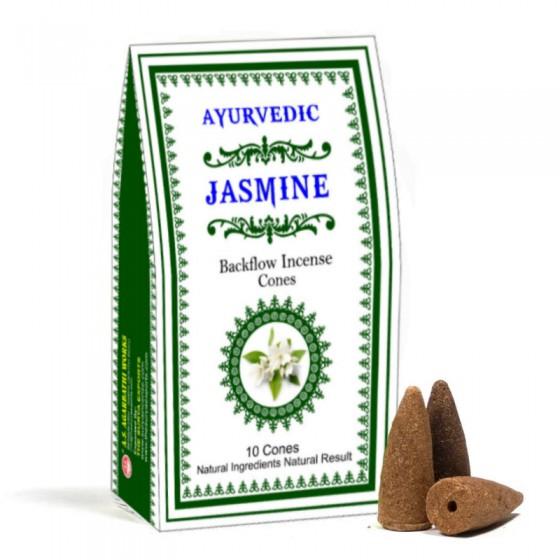 Vonné kužele Tečúci dym - Jasmin - Ayurvedic
