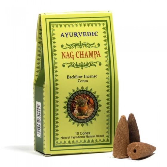 Vonné kužele Tečúci dym - Nag Champa - Ayurvedic