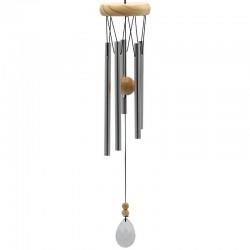Zvonkohra - 5 paličiek s krištáľom svetlá 48cm