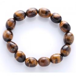 Náramok - Tygrie oko - nugetky gumička