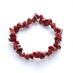 Náramok - Jaspis červený - gumička