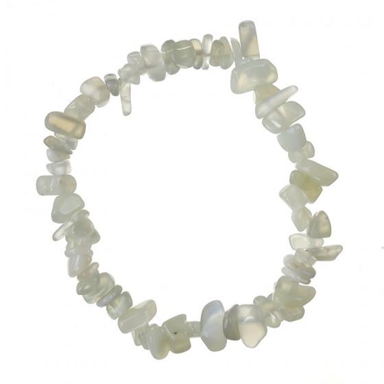 Náramok - Mesačný kameň - gumička