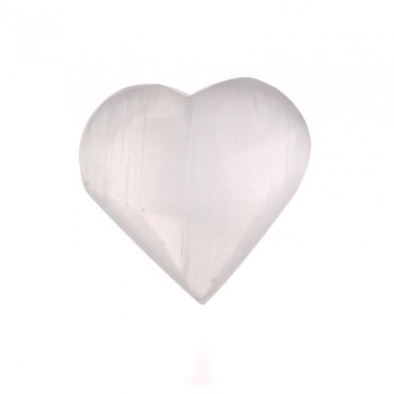 Selenitové srdiečko - biele 4cm