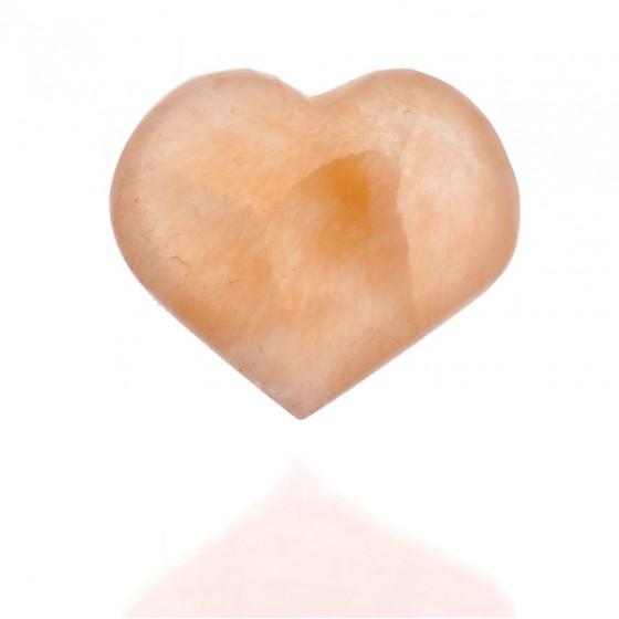 Selenitové srdiečko - ružové 5cm