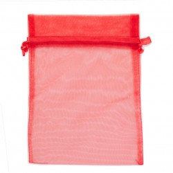 Organzové vrecko XL - červené