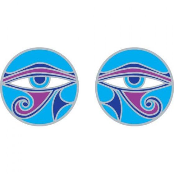 Mandala okenná nalepovacia - Oko múdrosti - 2 malé