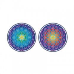 Mandala okenná nalepovacia - Kvet života - 2 malé