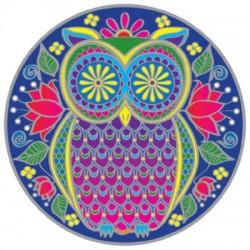 Mandala okenná nalepovacia - Sovička