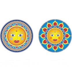 Mandala okenná nalepovacia - Zlaté slnko - 2 malé