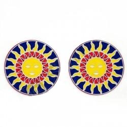 Mandala okenná nalepovacia - Slnko - 2 malé