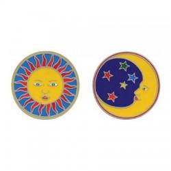 Mandala okenná nalepovacia - Slnko Mesiac - 2 malé