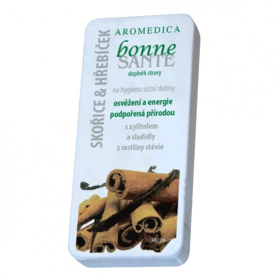 Ústne kozmetické tablety BONNE SANTÉ®  - Škorica, klinček, vanilka, citrón, rebríček